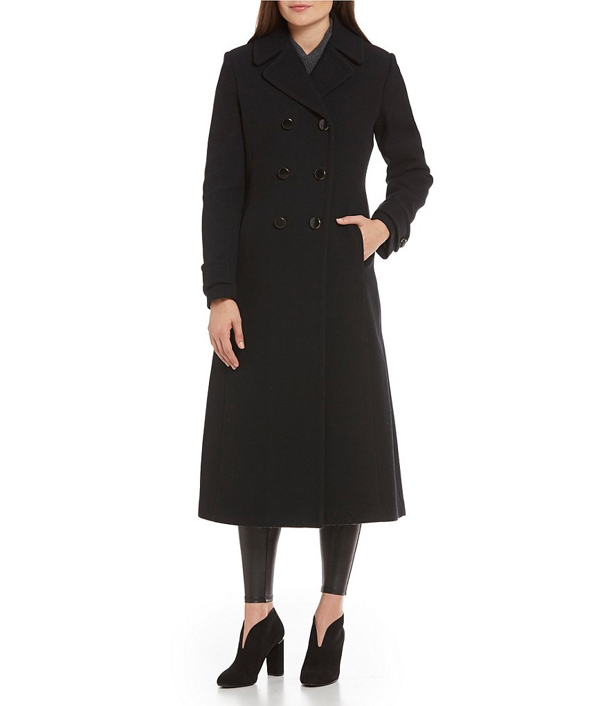 kate spade new york Double Breasted Long Wool Coat