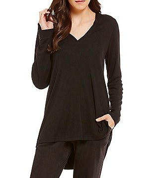N by Natori Shirttail Lounge Top
