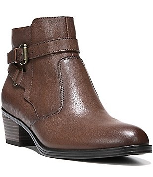 Naturalizer Zakira Leather Buckle Detailed Booties
