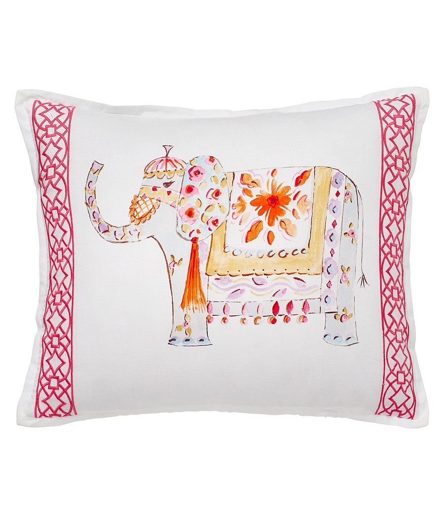 Dena Home Amara Embroidered Elephant Pillow
