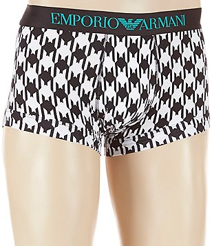 Emporio Armani Houndstooth Printed Trunks