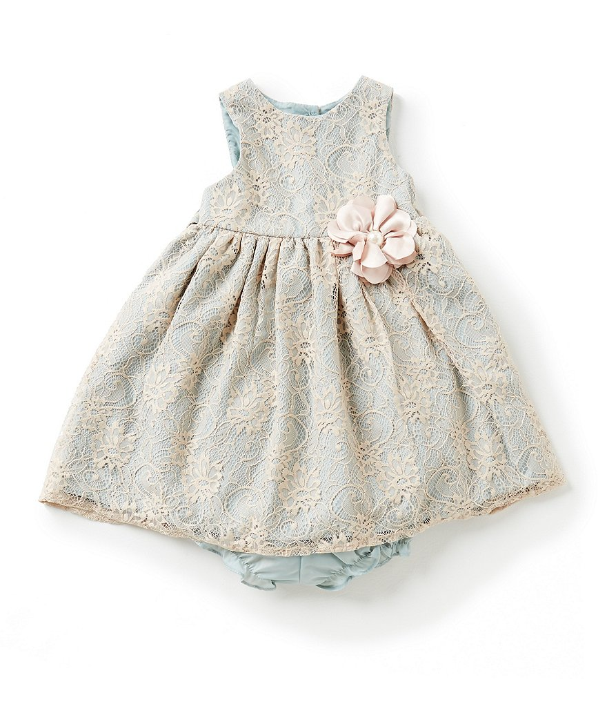 Marmellata Baby Girls 12-24 Months Lace Overlay Dress