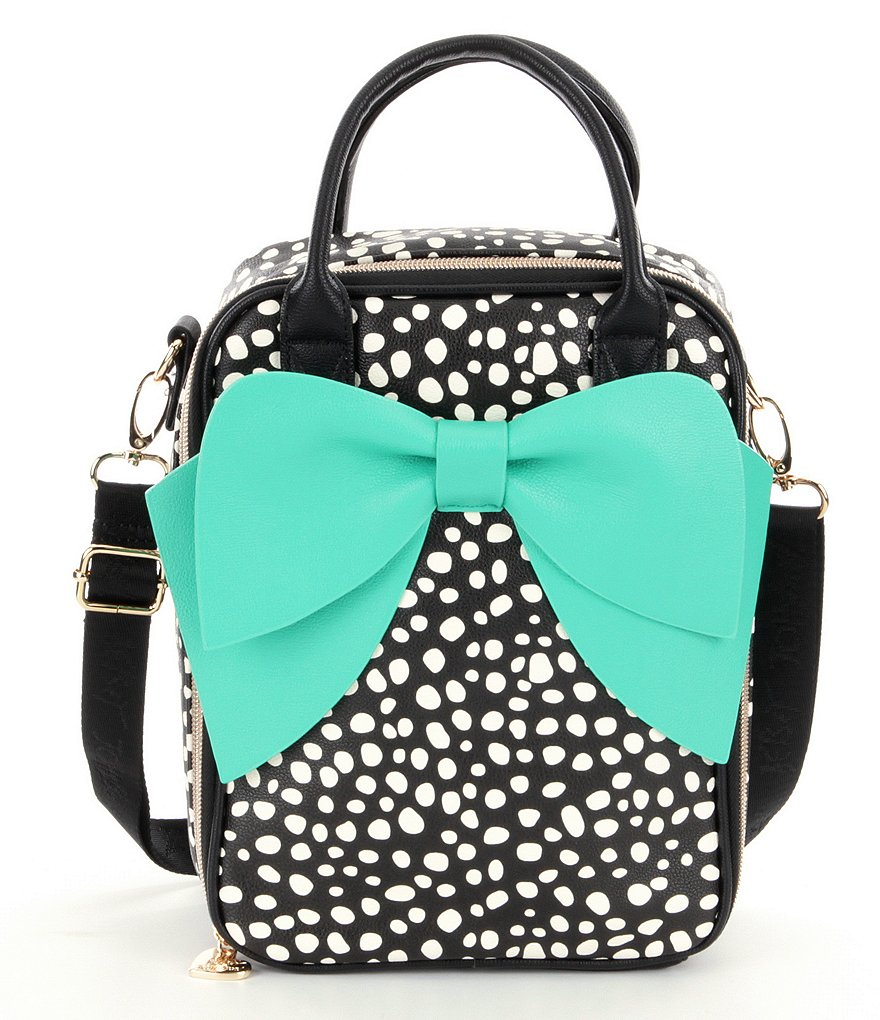 Betsey Johnson Dotted Bow Lunch Tote