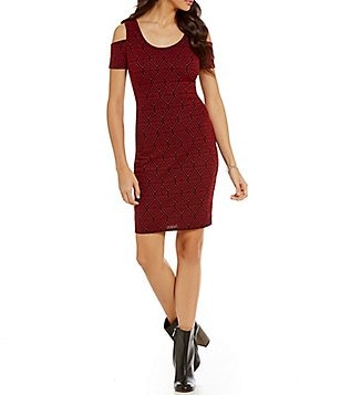 Jessica Simpson Mara Cold Shoulder Sheath Dress