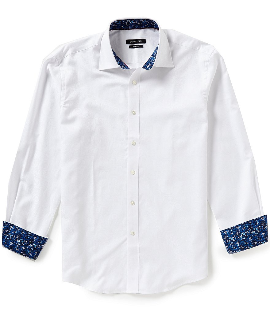Bugatchi Long-Sleeve Paisley Woven Shirt