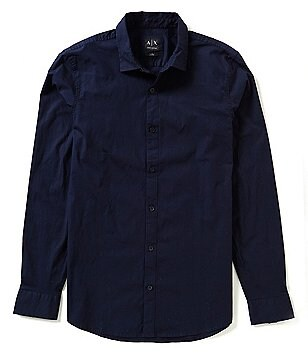 Armani Exchange Slim-Fit Solid Woven Shirt