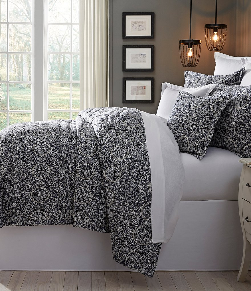 Southern Living Donato Medallion Cotton & Linen Quilt Mini Set