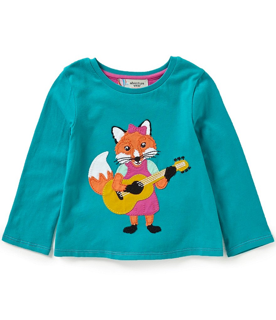 Adventure Wear by Copper Key Little Girls 2T-4T Fox Guitar Top