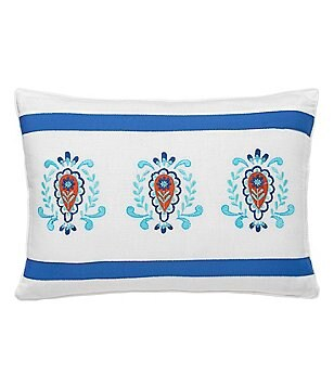 Dena Home Sky Floral-Embroidered Pillow