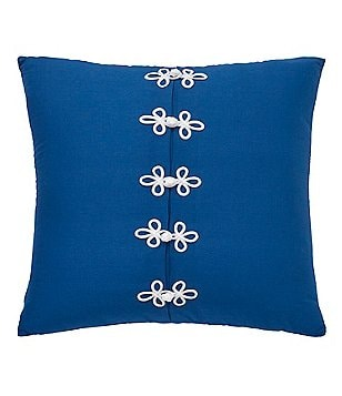 Dena Home Sky Frog Clasp Pleated Pillow
