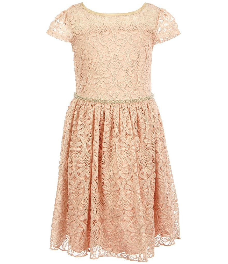 Xtraordinary Little Girls 4-6X Embellished-Waist Lace Dress