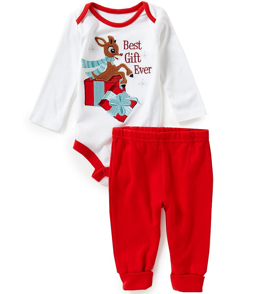 Baby Starters Baby Boys 3-12 Months Christmas Best Gift Ever Rudolph Bodysuit and Pants Set