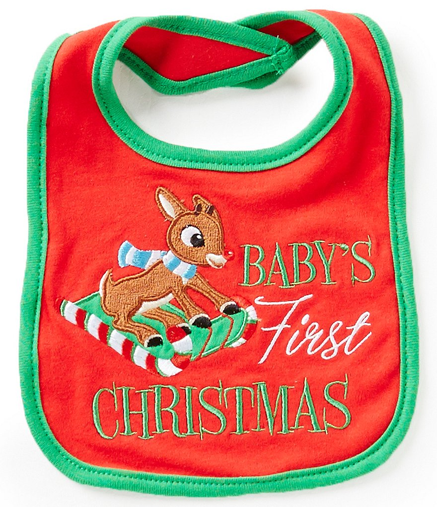 Baby Starters Baby's First Christmas Rudolph Bib