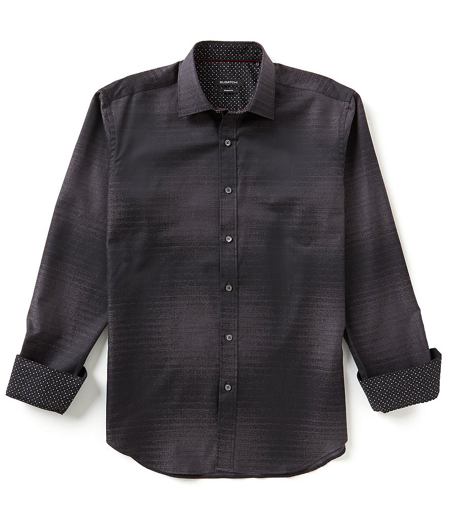Bugatchi Long Sleeve Ombré Shirt