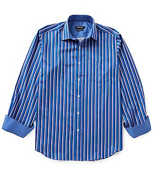 Bugatchi Long-Sleeve Stripe Woven Shirt