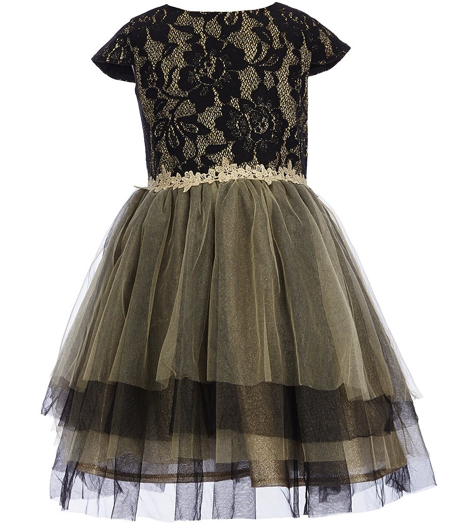 Little Angels by Us Angels Little Girls 2T-6X Bonded Lace Layered Tulle Dress