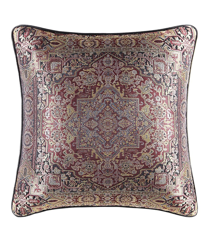 J. Queen New York Bridgeport Red Square Pillow | Dillards