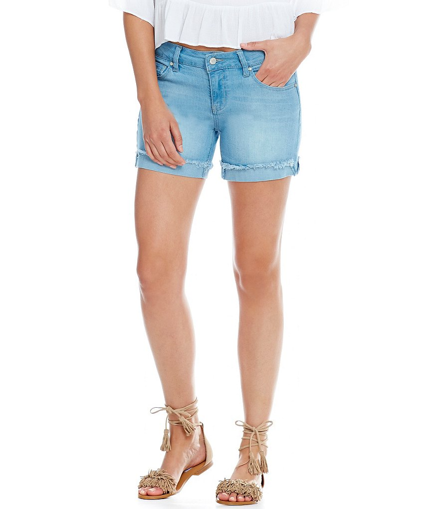Celebrity Pink Frayed Cuff Denim Shorts