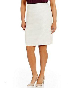 Calvin Klein Plus Sequin Boucle Pencil Skirt
