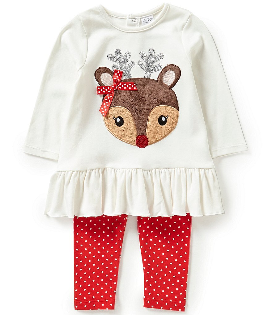 Starting Out Baby Girls 12-24 Months Deer Appliqué Tunic and Leggings Set