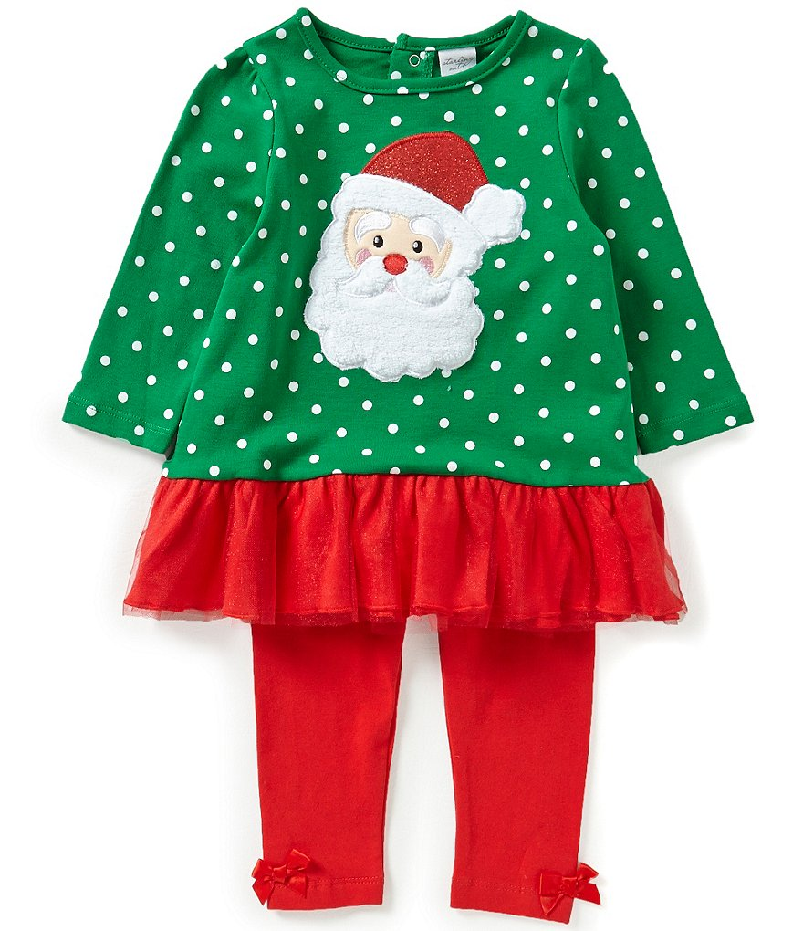 Starting Out Baby Girls 12-24 Months Christmas Santa Face Tunic and Leggings Set