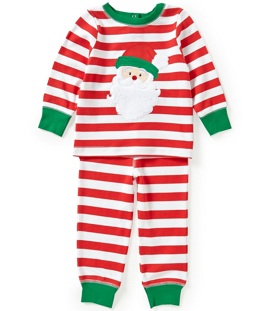 Starting Out Baby Boys 12-24 Months Christmas Santa Face Appliquéd Top and Pants Set
