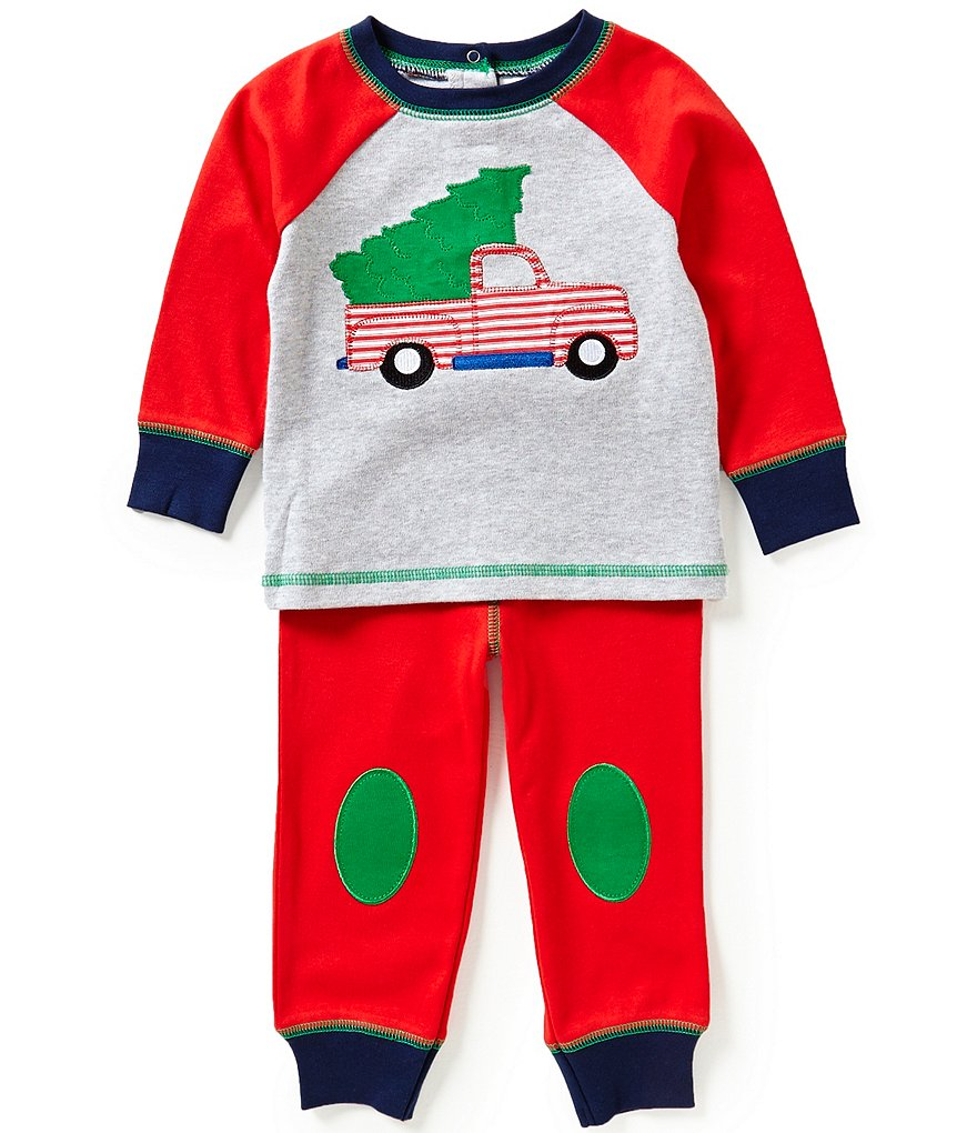 Starting Out Baby Boys 12-24 Months Christmas Tree and Truck-Appliquéd Top and Pants Set
