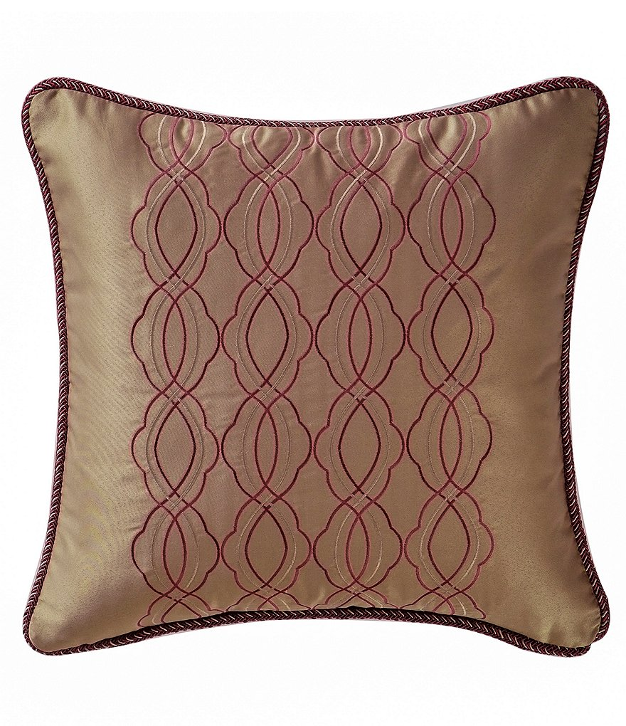 Waterford Athena Satin & Jacquard Square Pillow