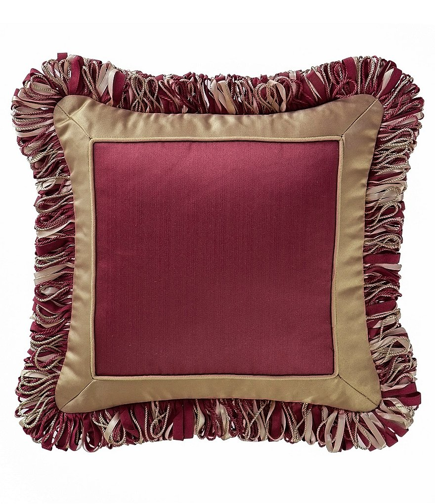 Waterford Athena Satin & Yarn Corded Square Pillow