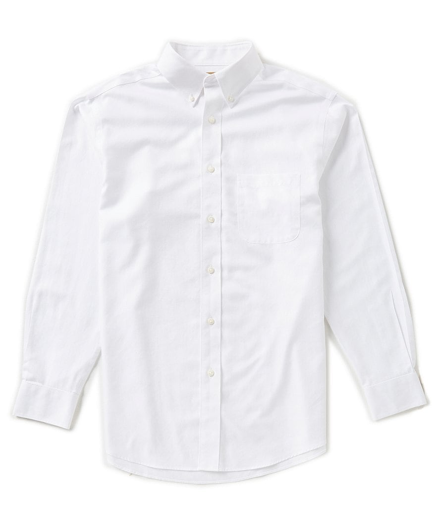Gold Label Roundtree & Yorke Perfect Performance Non-Iron Long-Sleeve Herringbone Sportshirt
