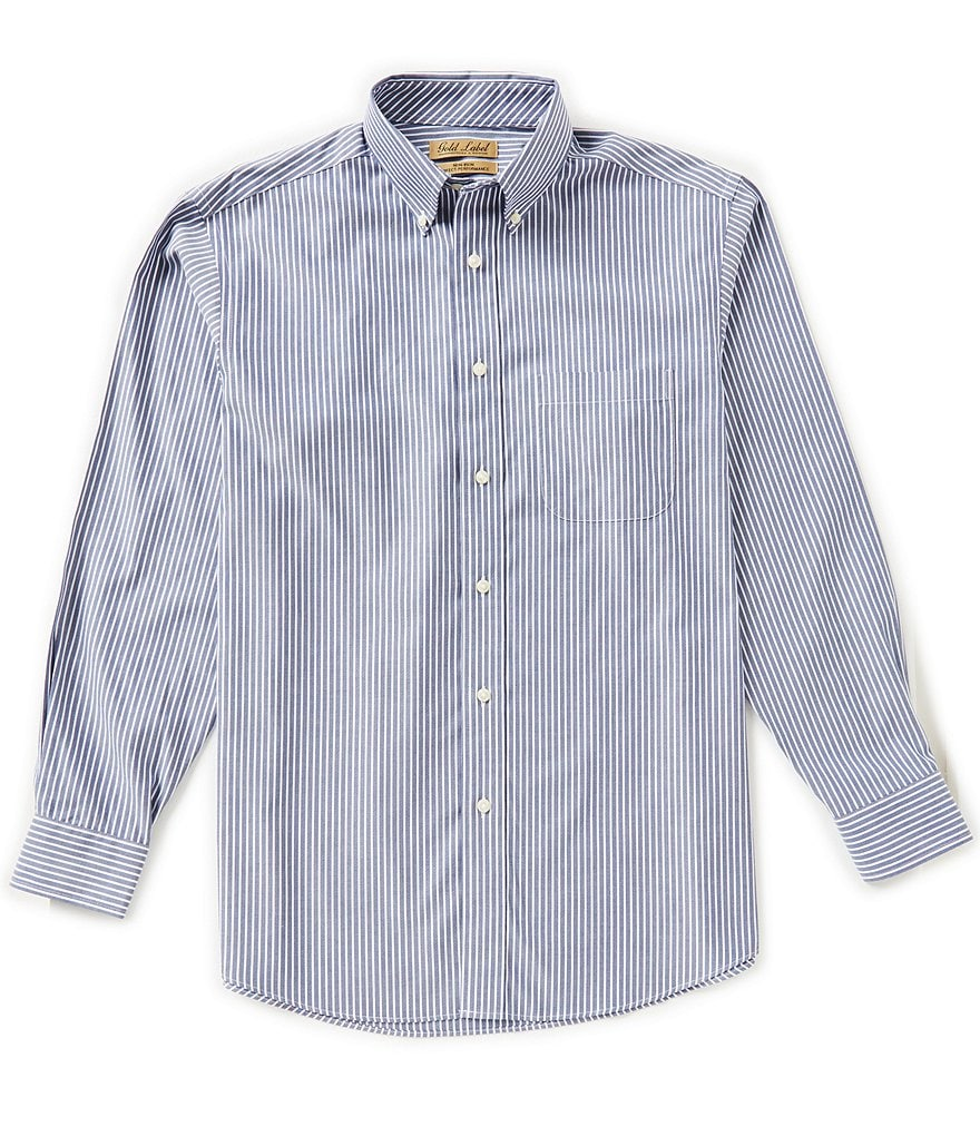 Gold Label Roundtree & Yorke Non-Iron Long-Sleeve Stripe Sportshirt