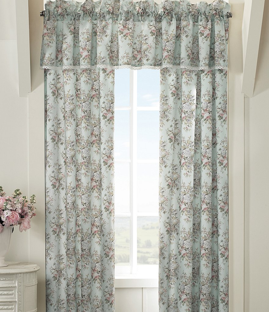 Piper & Wright Haley Lace-Trimmed Floral Window Treatments