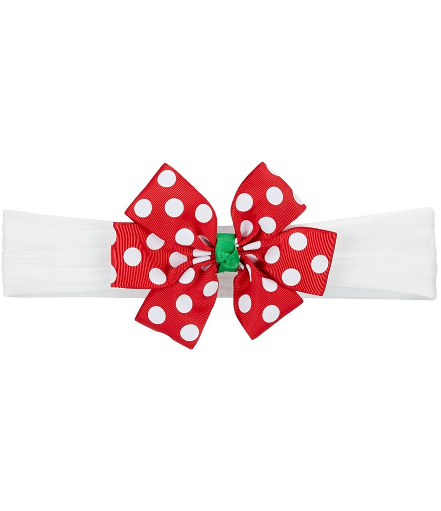 Starting Out Baby Girls Dotted Bow Headband
