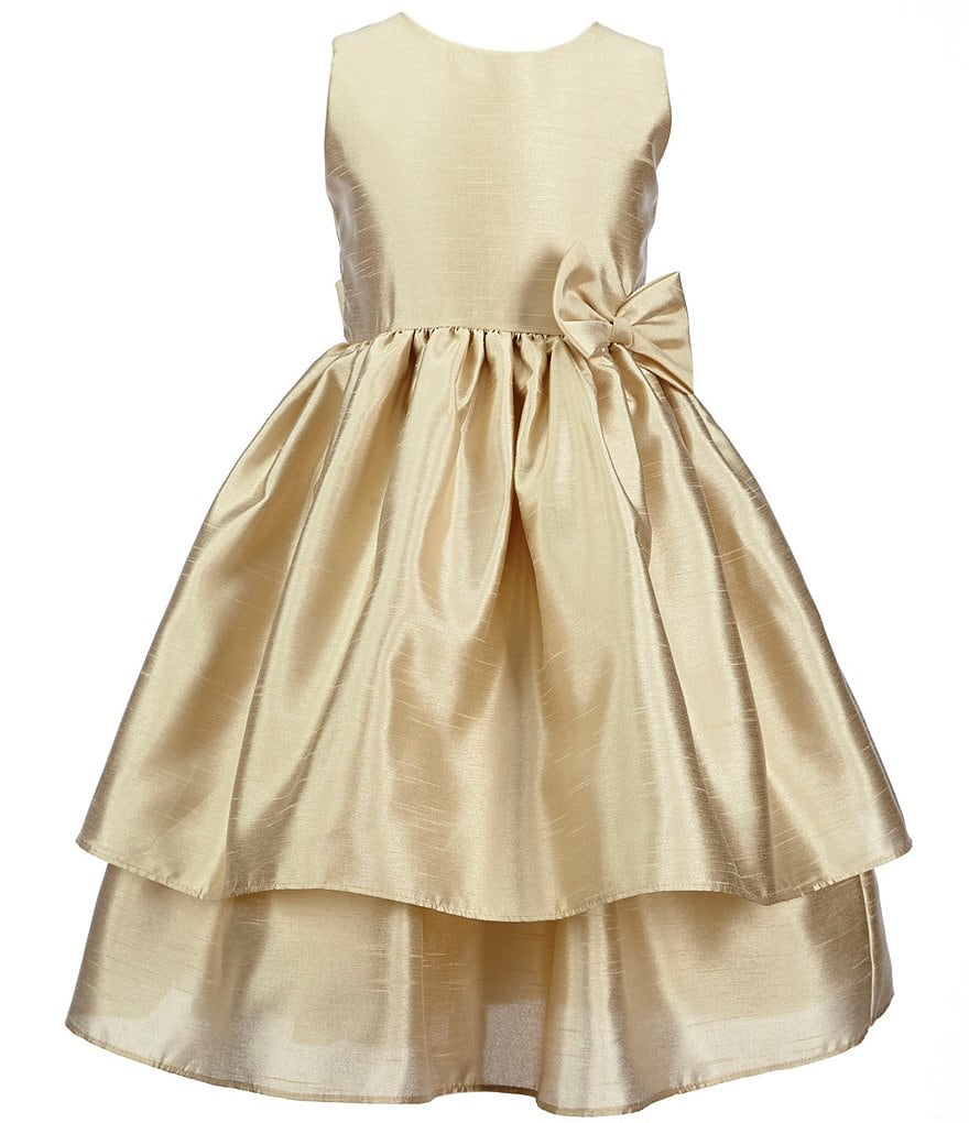 Jayne Copeland Big Girls 7-12 Tiered Bow Dress