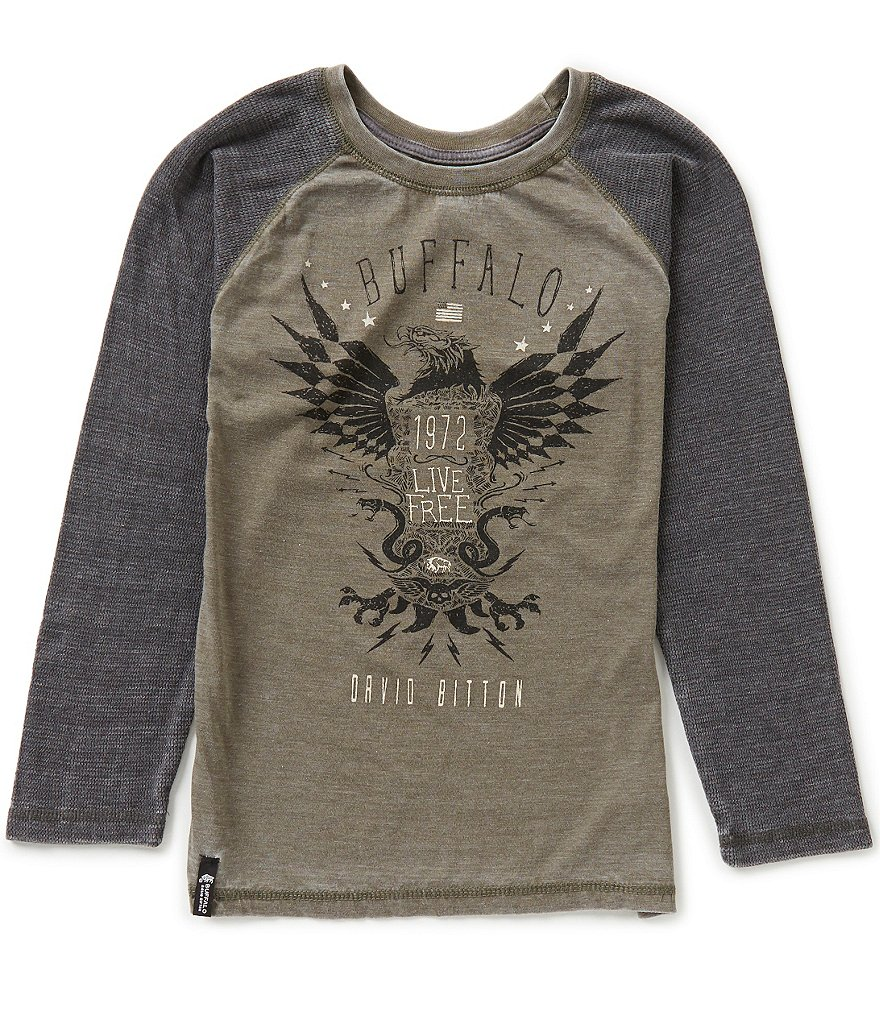 Buffalo David Bitton Big Boys 8-20 Netop Raglan-Sleeve Burnout Tee