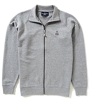 Psycho Bunny Long-Sleeve Barton Full-Zip Jacket