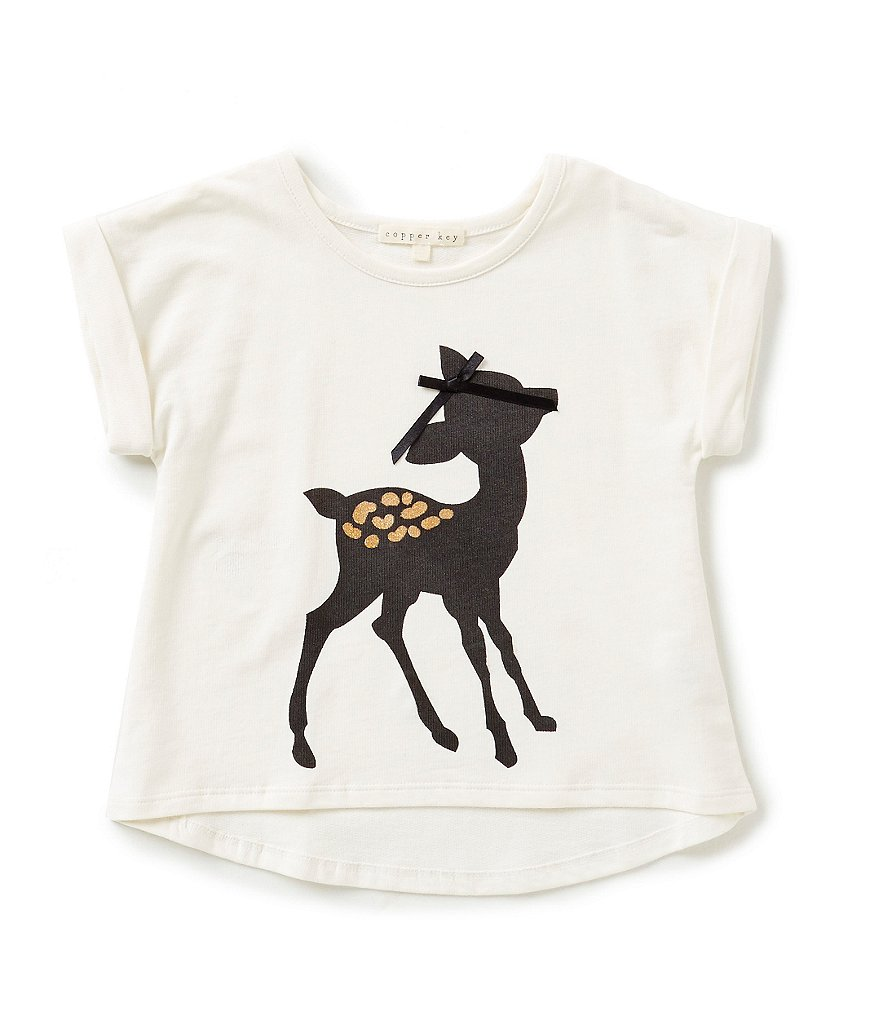Copper Key Little Girls 2T-6X Fawn High-Low Top