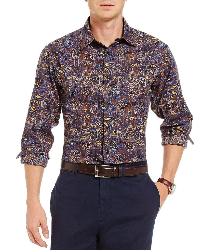 Cremieux Paisley Long-Sleeve Woven Shirt