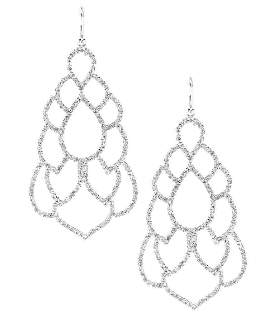 Belle Badgley Mischka Mata Hari Drop Statement Earrings