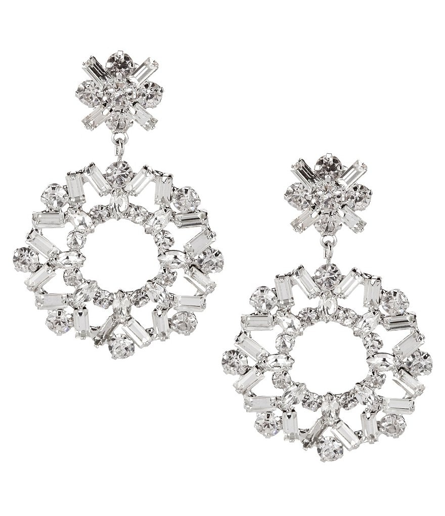 Belle Badgley Mischka Jazz Circle Chandelier Earrings