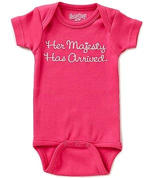 Sara Kety Baby Girls Newborn-18 Months Her Majesty Has Arrived Bodysuit