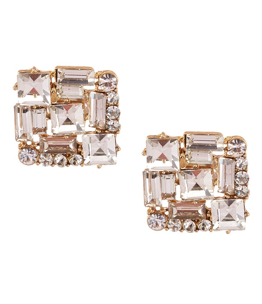 Belle Badgley Mischka Baguette Stud Earrings