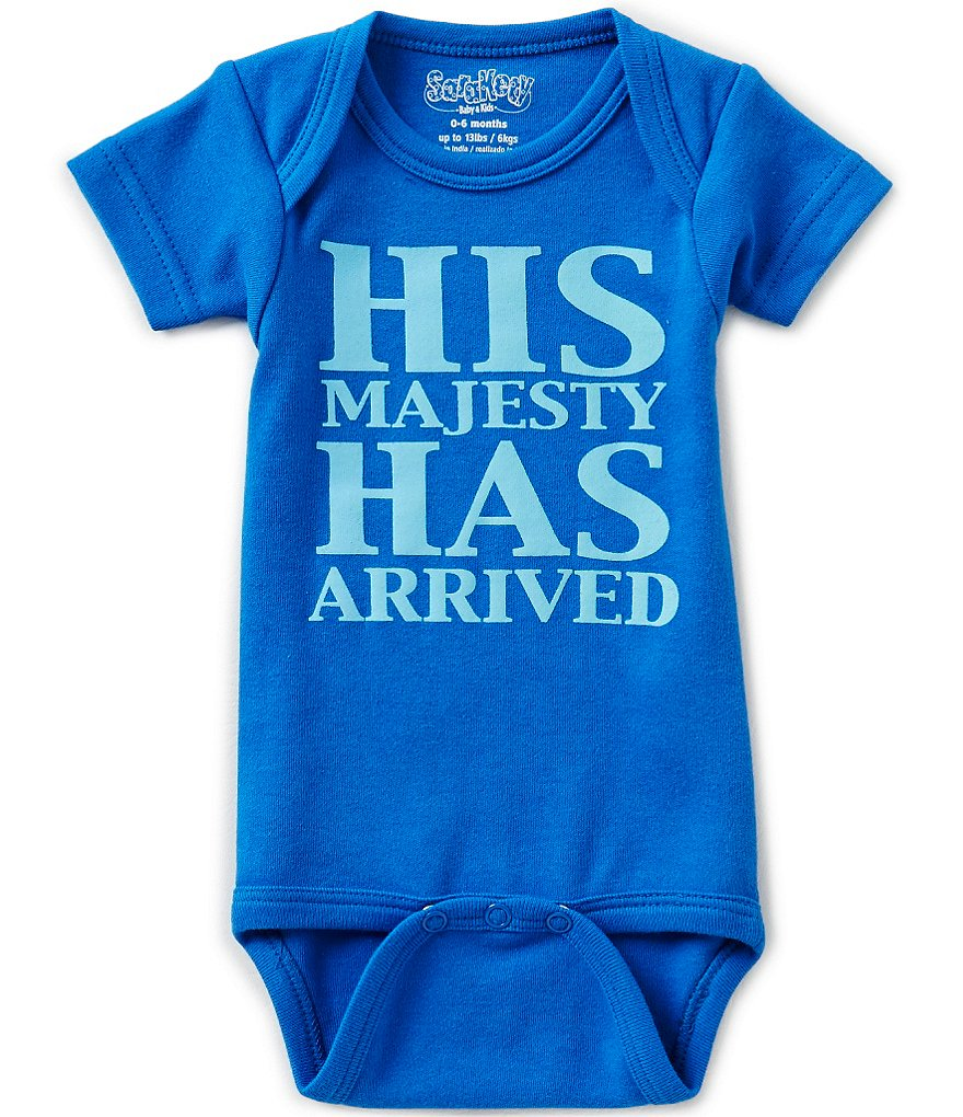 Sara Kety Baby Boys Newborn-18 Months His Majesty Has Arrived Bodysuit