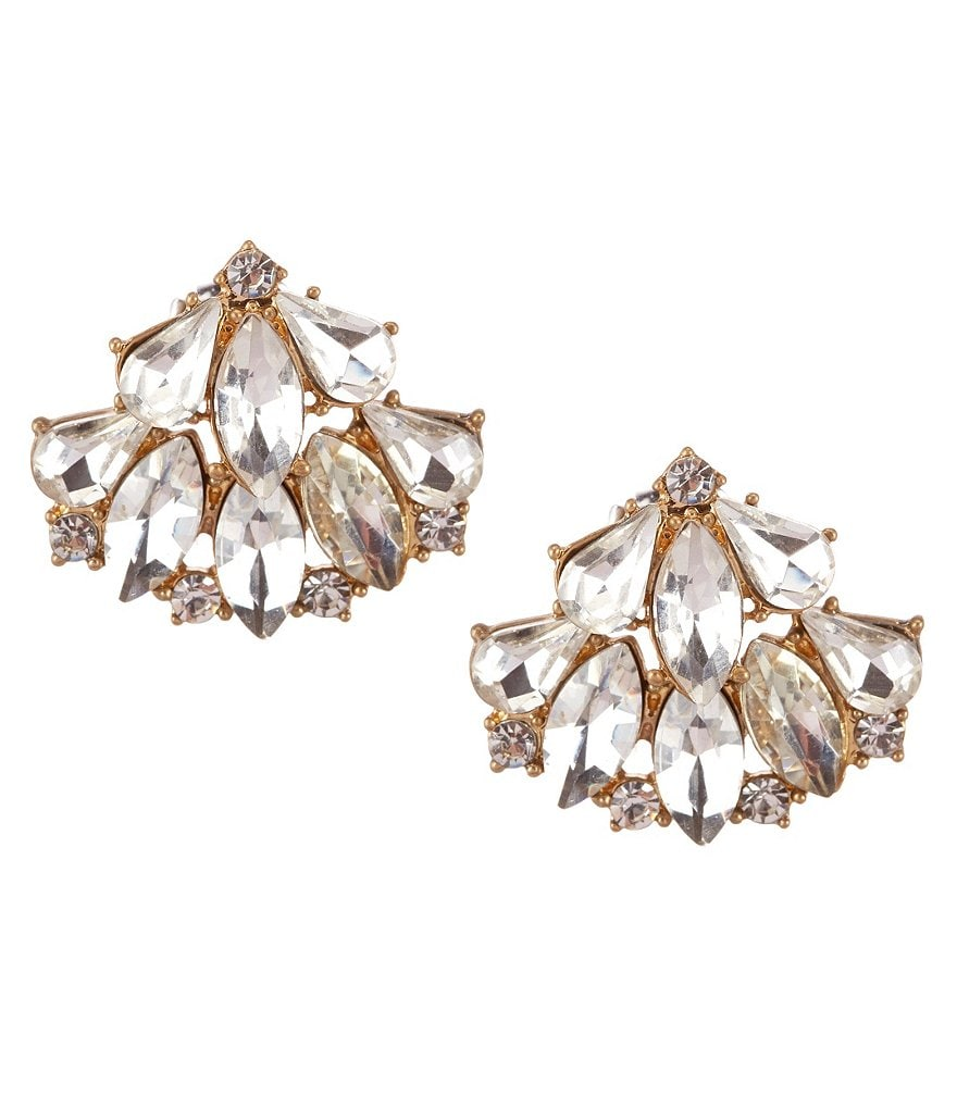 Belle Badgley Mischka Rhinestone Ear Jacket Earrings