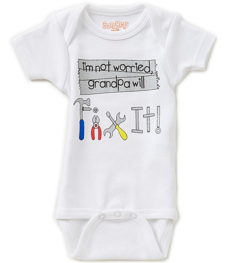 Sara Kety Baby Boys Newborn-18 Months Grandpa Will Fix It Bodysuit