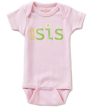 Sara Kety Baby Girls Newborn-18 Months Little Sis Bodysuit