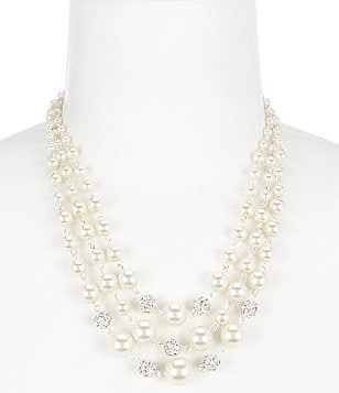 Cezanne Fireball & Pearl Multi-Strand Necklace
