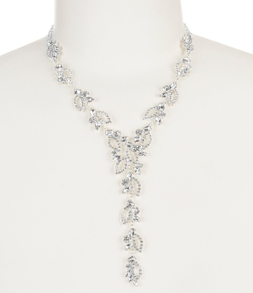 Cezanne Rhinestone Open Works Y-Necklace