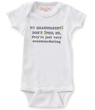 Sara Kety Baby Boys Newborn-18 Months My Grandparents Don't Spoil Me Short-Sleeve Bodysuit