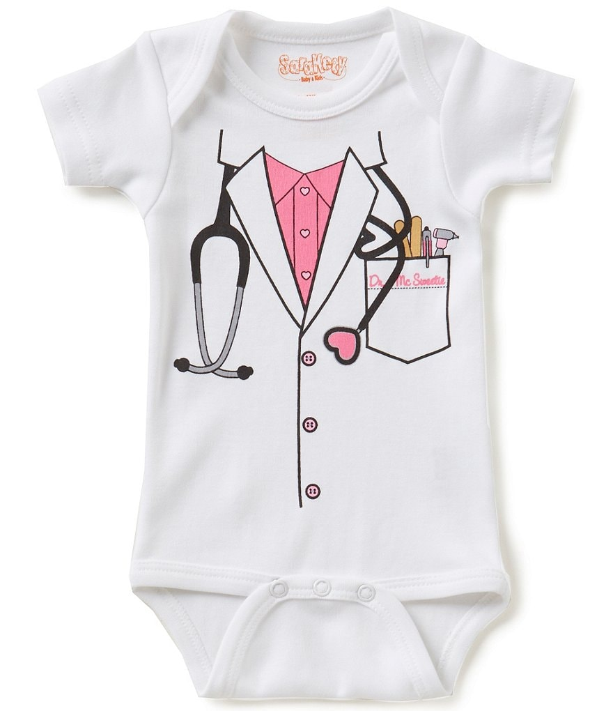 Sara Kety Baby Girls Newborn-18 Months Doctor Short-Sleeve Bodysuit
